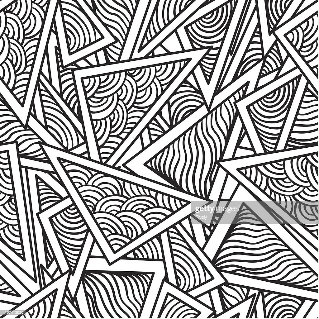 abstract seamless pattern of geometric figures : Vector Art