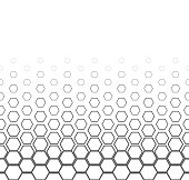 Abstract seamless pattern of geometric shapes. Dithered colors in the image. Pattern on a white background.