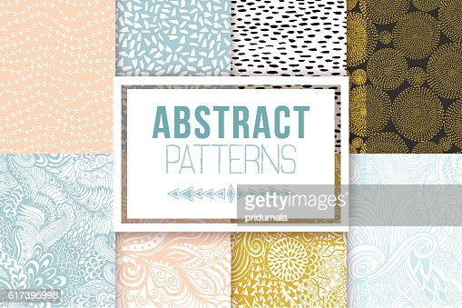 Abstract seamless patterns se vector textures : stock vector