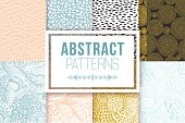 Abstract patterns set. Vector textures. Ethnic backdrop, retro abstract geometric elements templates in 80s 90s style