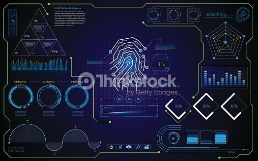 abstract security concept hud ui interface design template