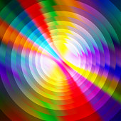 Abstract shiny colorful circles background. Abstract digital art rippled colors background image, vector illustration.