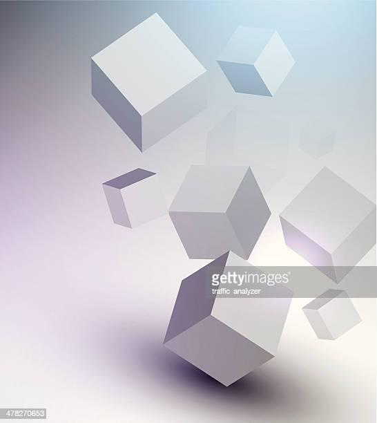 Abstract shiny cubes
