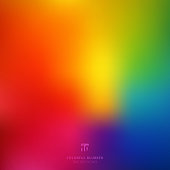 Abstract smooth blurred colorful bright rainbow color gradient mesh background. Vector illustration