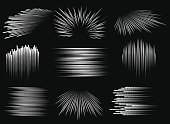 Abstract speed line patterns. Vector action lines gradient texture set