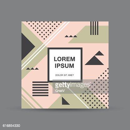 Abstract square geometric brochure design : Vector Art