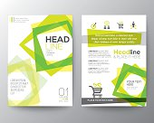 Abstract square shape background for Poster Brochure Flyer design Layout vector template in A4 size