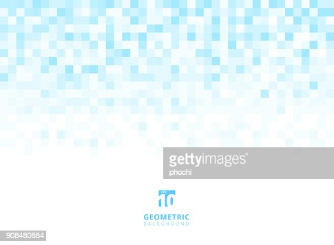 Abstract squares geometric light blue background with copy space. Pixel, Grid, Mosaic. : stock vector