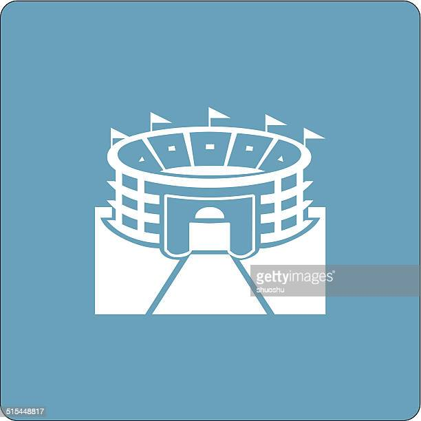 abstract stadium building icon for design
