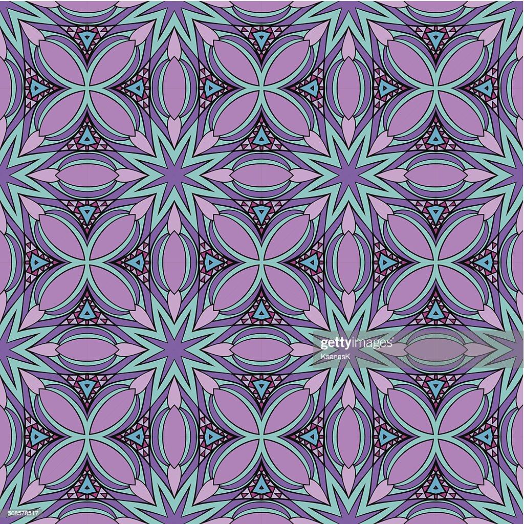 Abstrakte Buntglas Muster : Vektorgrafik
