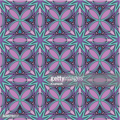Abstract Stained Glass Pattern : Vector Art