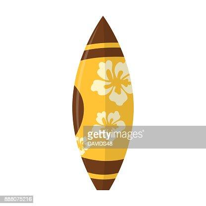 Abstract summer surfboard : Vector Art