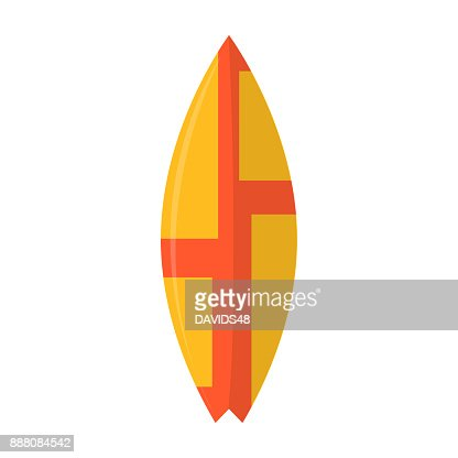 Abstract summer surfboard : Vector Art