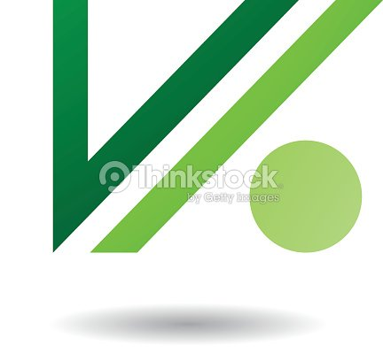 Abstract Symbol Of Letter V And Dot Icon Vector Art Thinkstock