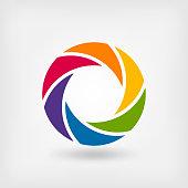 abstract symbol rainbow circle. vector illustration - eps 10