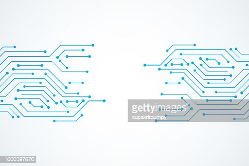 Abstract Technology Background , blue circuit board pattern : stock vector