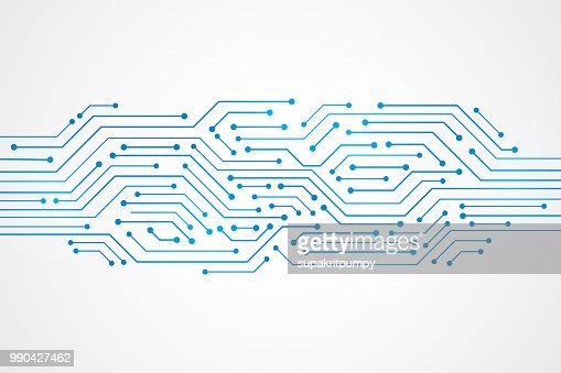Abstract Technology Background , blue circuit board pattern : Arte vetorial