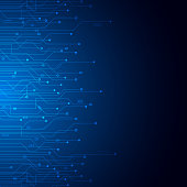 Abstract Technology Background , Blue circuit board