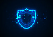 Abstract technology background, Internet technology cyber security concept