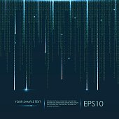 Abstract technology background. Vector binary code. Vector eps10 illustration