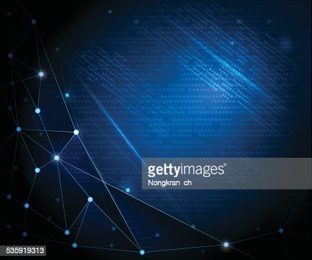 Abstract Technology background with cyberspace : Vector Art