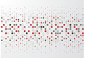 Abstract technology background with red and gray circle border pattern, Vector illustration