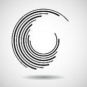 Circle, strip, Line, Abstract, Geometric, icon, Shape
