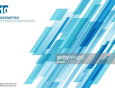 Abstract technology diagonally overlapped geometric squares shape blue colour on white background. : stock vector