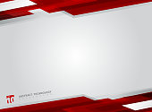 Abstract technology geometric red color shiny motion background. Template with header and footer for brochure, print, ad, magazine, poster, website, magazine, leaflet, annual report. Vector corporate