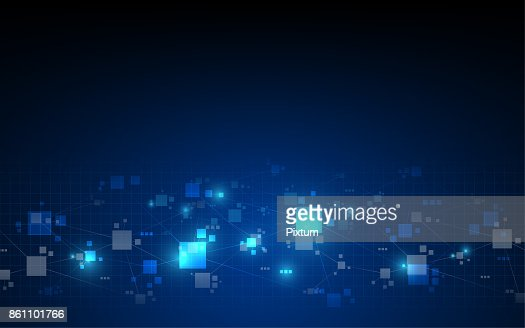 abstract telecommunications technology digital pattern background : Vector Art