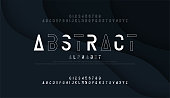 Abstract thin line font minimal alphabet. modern fonts and numbers. Typography urban typeface uppercase and number. vector illustration