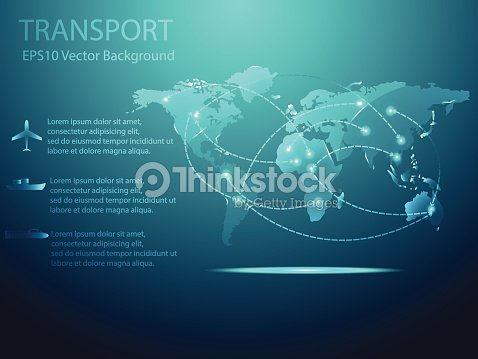 Abstract transport with world map background vector illustration abstract transport with world map background vector illustration gumiabroncs Choice Image