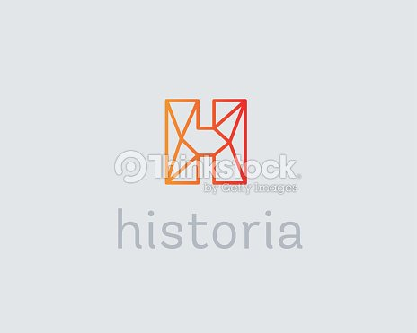 abstract trend letter h logo design template colorful structure creative vector art