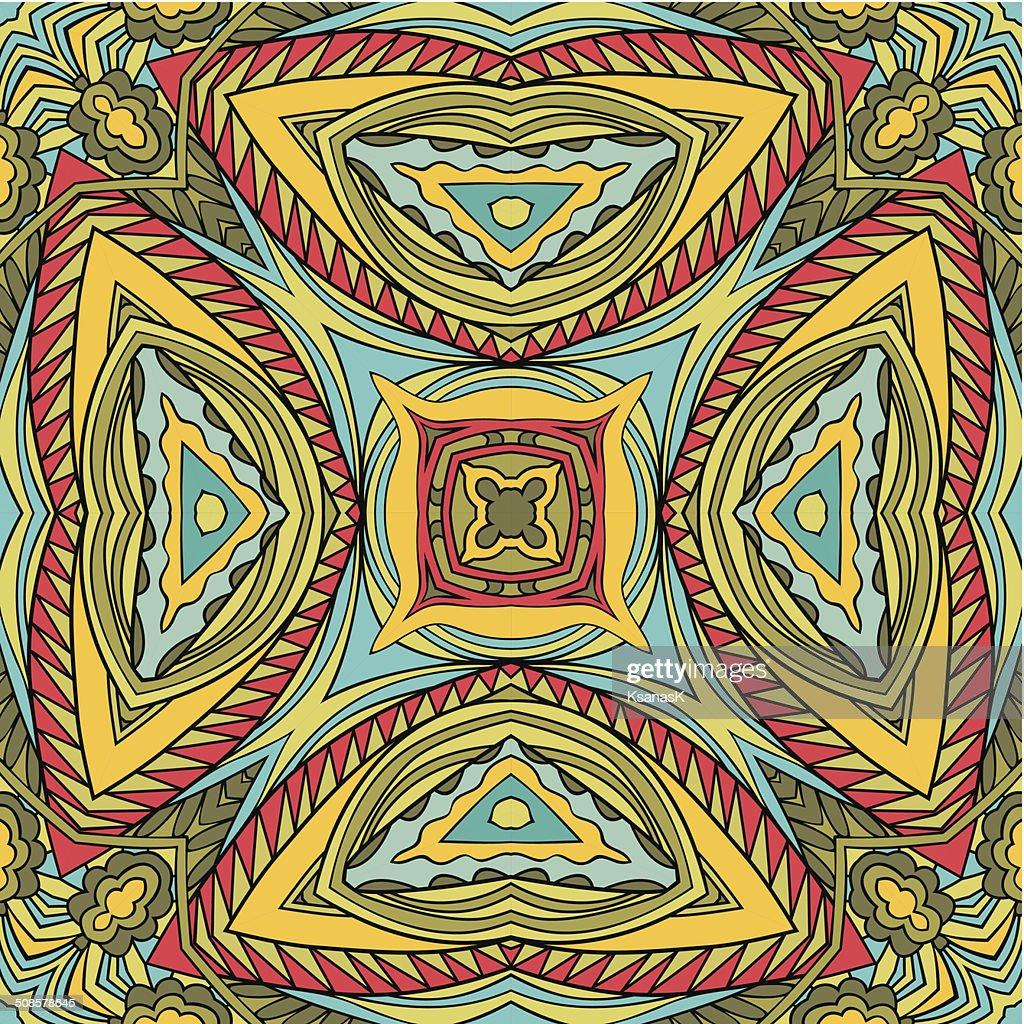 Abstract Tribal Seamless Pattern : Vector Art