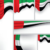 Abstract UAE Flag, Emirates Colors (Vector Art)