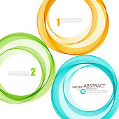 Abstract vector background, color  transparent ring illustration eps10