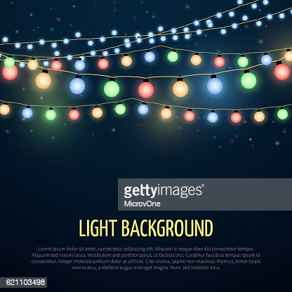 Abstract vector background with christmas garland lamp lights decoration : Vektorgrafik