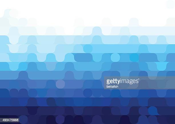 Abstract vector blue geometric background