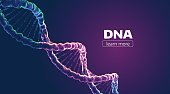 Abstract vector DNA structure. Medical science banner background