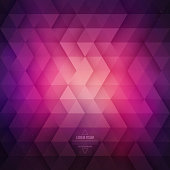 Vector technology abstract geometric background. Vector purple violet background. Vector pattern. Vector geometric structure. Triangular vector background. Retro vector background. Hipster background