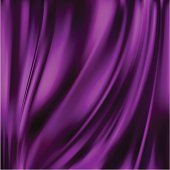 Beautiful Purple Silk. Drapery Textile Background, Mesh Vector Illustration