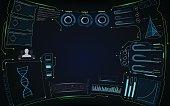 abstract virtual future smart screen interactive hud interface design concept EPS 10 vector