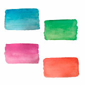 Abstract watercolor rectangles.