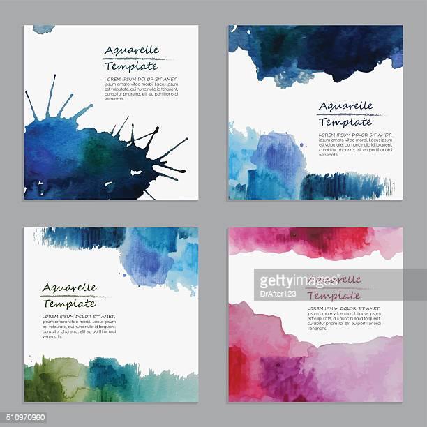 Abstrakte Aquarell-Vorlagen