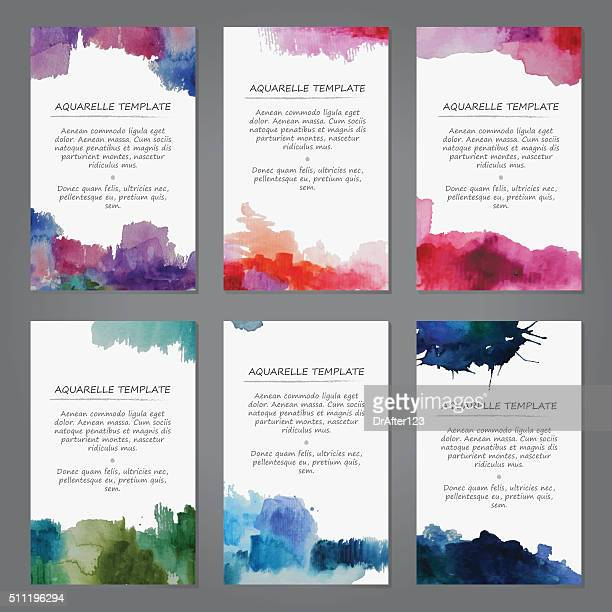 Abstract Watercolor Templates