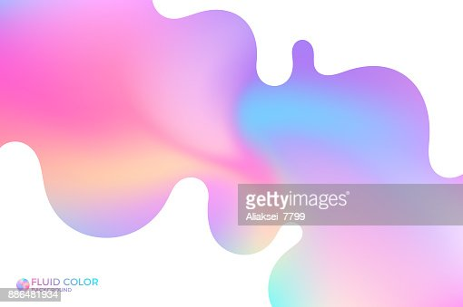 Abstract wavy background. Iridescent background : stock vector