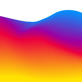 Abstract wavy background. Vector 3D effect. Futuristic dynamic pattern.