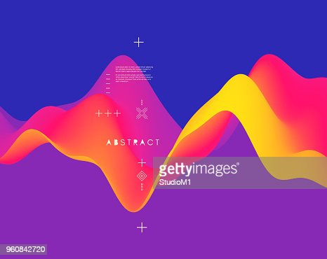 Abstract wavy pattern. Background for design. Vector Illustration for banner, flyer, book cover, poster. : stock vector