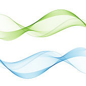 Abstract web smooth spring fresh dividers lines collection of bright headers or footers. Vector illustration