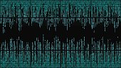 High-tech computer digital background with red digital lines, binary code